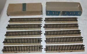 Vintage Marklin (10) Piece 3601D Straight HO Track in Box
