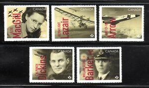 2019 Canada SC#3172-6 Canadians in Flight-Avro CF 105 Arrow-Five Bk Stamps M-NH