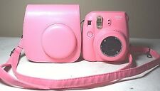Fujifilm Instax Mini 9 Flamingo Pink Instant Film Camera with Carry Case