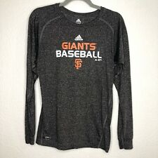 Adidas San Francisco Giants Baseball Long Sleeve Shirt Climalite Size Large