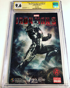 CGC 9.6 SS Marvel's Iron Man 3 Prelude #1 Variant signed Don Cheadle War Machine