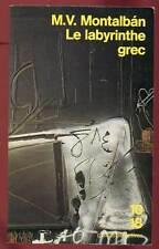 10/18. M.V MONTALBAN: LE LABYRINTHE GREC. 1994.