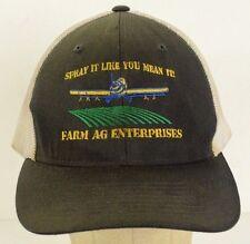 Spray it Like You Mean it Farm Ag Enterprises Black Baseball Hat Cap Fitted L/XL