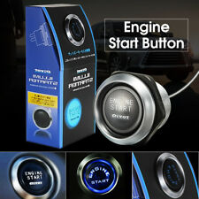 Car Engine Push Start Button Switch Ignition Starter Kit Blue LED ON-OFF