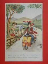 VESPA lambretta Piaggio vecchia cartolina in campagna old postcard *