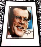 Nick Nolte autographed signed auto 8x10 portrait photo matted & framed (JSA COA)