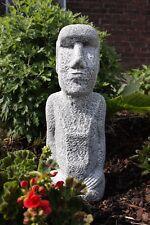Steinfigur Osterinsel Statue Gesicht Frostfest Garten Deko SteingussGartenfigur