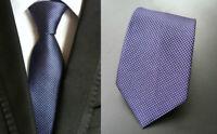 Blue Tie and Purple Mens Patterned Handmade 100% Silk Wedding Necktie UK Seller
