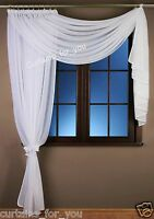 WHITE VOILE NET CURTAIN WITH SCARF MODERN HIGH QUALITY FOR YOU AMAZING DECOR