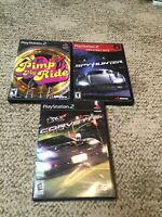 PS2 PlayStation Game Lot Of 3 Car Related Games Pimp My Ride Corvette Spy Hunter