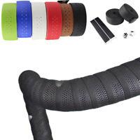 Non-slip PU Leather Handlebar Tape Cycling Supply Mesh Belt Bike Accessory