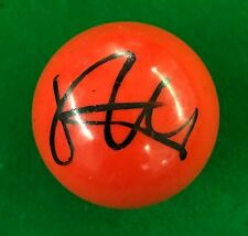 STEPHEN HENDRY HAND SIGNED RED SNOOKER BALL PROOF.