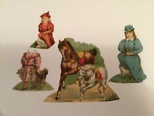 "Vtg. Advertising Trade Card Paper Doll Set Lion Coffee ""The Park� #6"