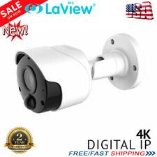 LaView 8MP R-series 2.8 mm PoE PIR Sensor 4K CCTV IP Security Camera System