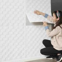 10pcs 3D Brick Effect Wallpaper Wood Wall Sticker Self Adhesive Livingroom Tiles