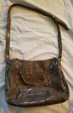 Michael Kors Handbag Grey Snakeskin Silver Hardware
