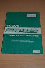 Werkstatthandbuch Suzuki Swift SA 413 Anhang Stand 1986 86