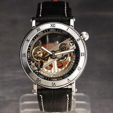 Dreamed Gift! Super Skeleton Mens Self automatic mechanical analog Wrist Watch