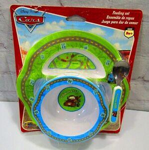 NIP Disney/Pixar Cars 3-Piece Feeding Set 9 months+-Tow Mater-2006 edition-nice