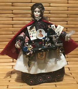 Vintage Dollhouse Miniature Doll - Gypsy Street Vendor - Designer Ligia G. Young