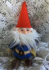 Vintage 1978 Knickerbocker Company Gnomes Plush Doll Toy 1970s Retro Christmas
