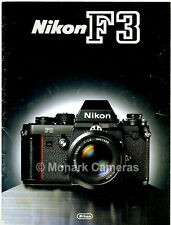 Nikon F3 Camera & Lens Range Brochure, More Dealer Sales Catalogues Listed