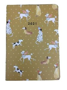 2021 Dachshund Poodle Dog Diary Organiser A5 Mustard Yellow Weekly Daily Planner