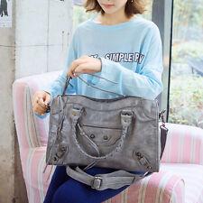 Women Motorcycle Stud Tassels Bag Fashion Girls Handbag Tote Rivet Shoulder Bags