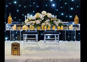 Wedding Display Reception Table Decorative Clear Acrylic Perspex.