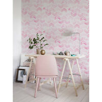 Watercolor Chevron removable wallpaper Geometric Pastel Pink For Nursery Decor