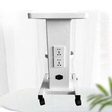 Rolling Trolley Cart Beauty Salon Spa Storage Equipment Organizer Stand + Socket