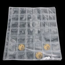 1 Page 42 Pockets Plastic Coin Holders Storage Collection Money Album Case Hot