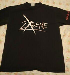 """Vintage 2000 WWF Hardy Boyz """"2 Xtreme"""" Black XL T-Shirt"""