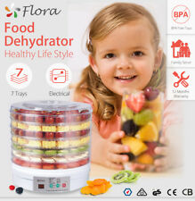 7 Trays White Food Dehydrator Beef Jerky Fruit Dryer Maker Preserver Household