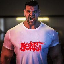 Men Gym Captain Bodybuilding Muscle Workout Cotton Crew Neck T-shirt Tee Vest