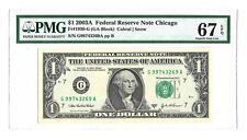 STAR Fr# 1931-F* PMG GEM UNCIRCULATED 65 EPQ 2003A $1 ATLANTA ⭐️ BANKNOTE