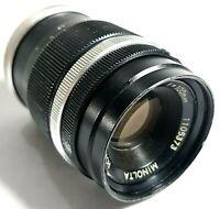 Minolta Rokkor-TC 100mm F4 Prime Lens Vintage UK Fast Post