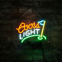Coors Light Golf Flag Home Wall Decor Neon Open Sign Vintage Light Beer Bar Pub