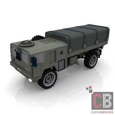 CUSTOM PDF Bauanleitung Bundeswehr 5t MAN Transport LKW MW für LEGO® Steine
