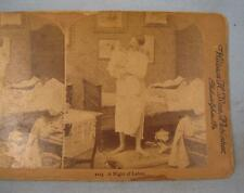 Stereoview Griffith & Griffith William H Rau A Night Of Labor Man Baby (O) AS IS