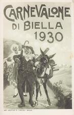 C135) CARNEVALE, CARNEVALONE DI BIELLA 1930, GEPIN E LA VECIA.