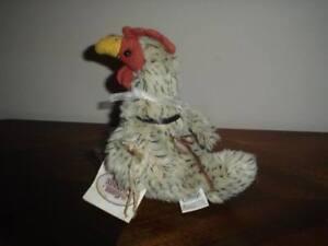 Ganz Cottage Omelette Rooster Chicken Plush Artist Lorraine Chien New