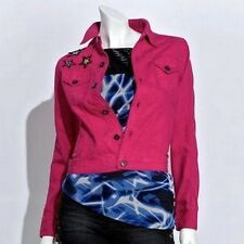 Authentic Icon American Idol by Tommy Hilfilger Pink Denim Jacket Stars L Large