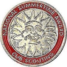 WOLF CUB SCOUT NATIONAL SUMMER TIME AWARD PIN BOY GIFT RED CAMP HIKING OA JAMBO