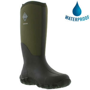 Muck Boots Edgewater II Mens Green Neoprene Wellies Wellington Boots Size 7-11