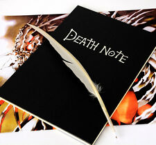 New Death Note Death Note L Notebook & Feather Pen Book Writing Journal Size L
