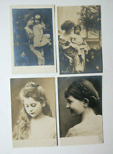 4 Vintage Rotophot RPPCs Queen Marie of Romania and Princess Elisabeth and Maria