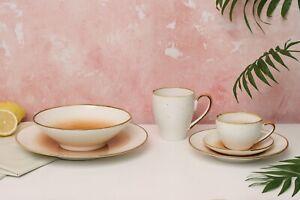 D&F Hola Hand Paint 8'' Large Stoneware Serving Bowl, Salad Bowl, Gift