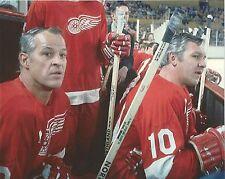 GORDIE HOWE & ALEX DELVECCHIO 8X10 PHOTO HOCKEY DETROIT RED WINGS NHL PICTURE