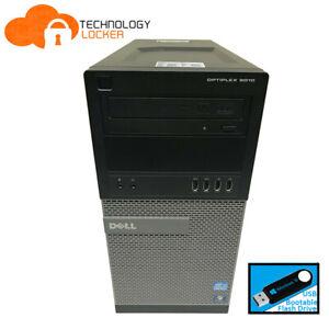 DELL Optiplex 9010 Tower Intel Core i7-3770 @3.40GHz 8GB RAM 128GB SSD Wins 10